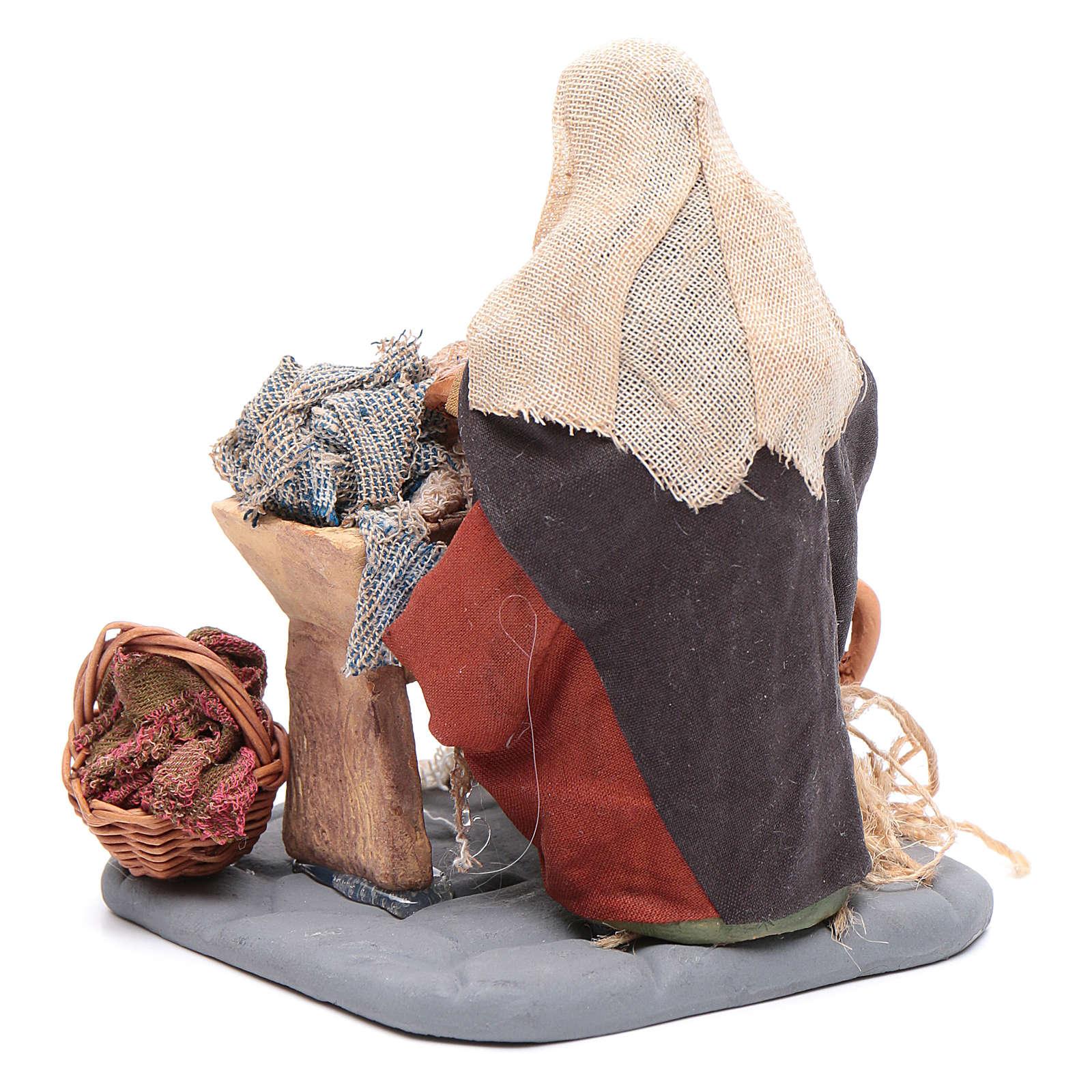 Washwoman 10cm, Nativity figurine 4