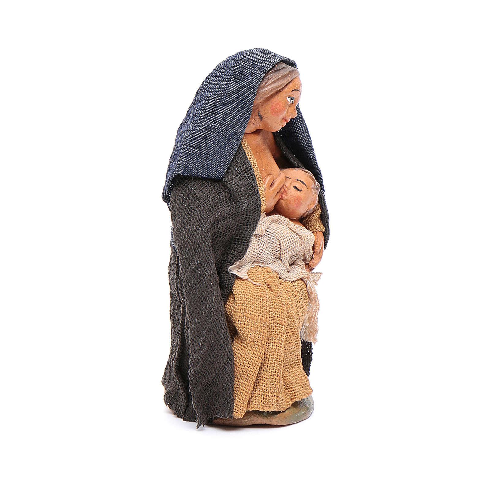 Donna che allatta 10 cm presepe napoletano 4
