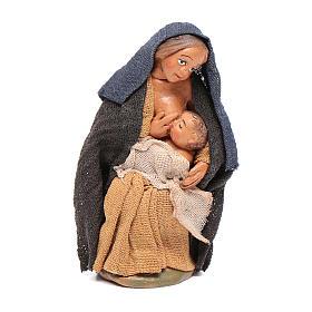Donna che allatta 10 cm presepe napoletano s1