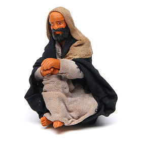 Neapolitan Nativity Scene: Sitting camel-driver 10cm, Nativity figurine