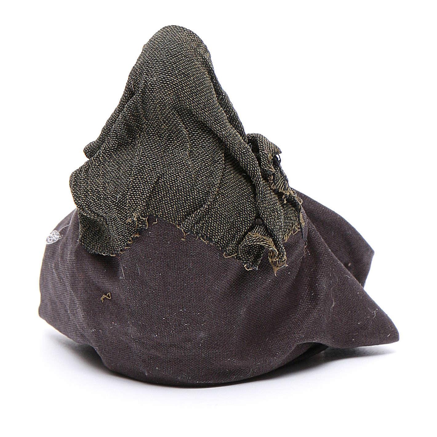 Cammelliere singolo seduto per terra 10 cm presepe napoletano 4