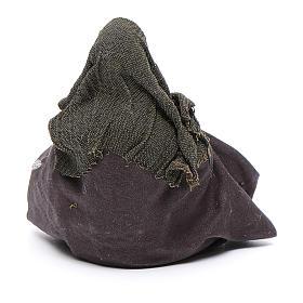 Cammelliere singolo seduto per terra 10 cm presepe napoletano s3