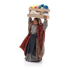 Mujer con caja de flores sobre la cabeza 10 cm Belén napolitano s2