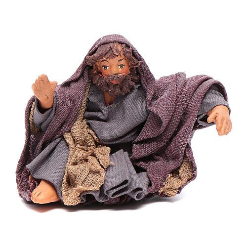 San Giuseppe seduto 10 cm presepe napoletano 1