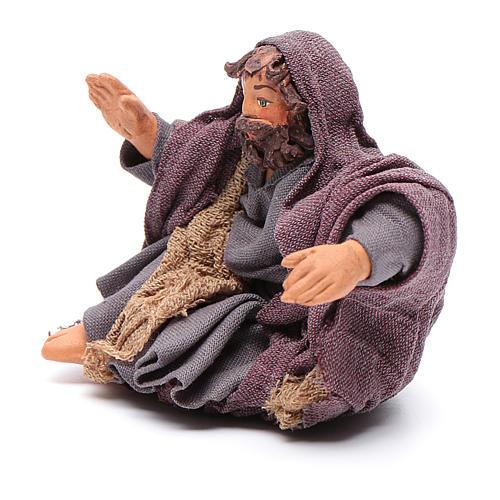 San Giuseppe seduto 10 cm presepe napoletano 2