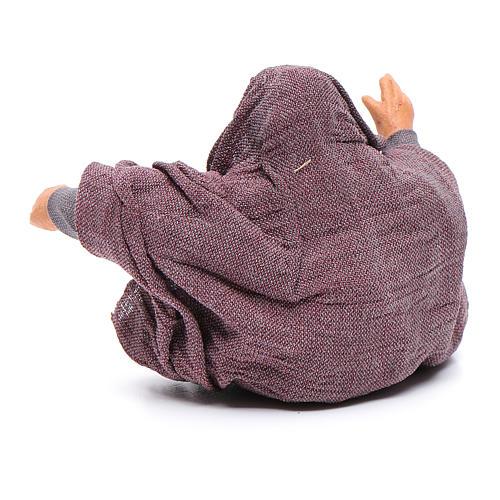 San Giuseppe seduto 10 cm presepe napoletano 3