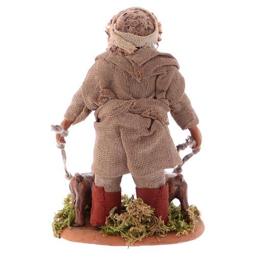 Huner with dogs 10cm, Neapolitan Nativity figurine 3