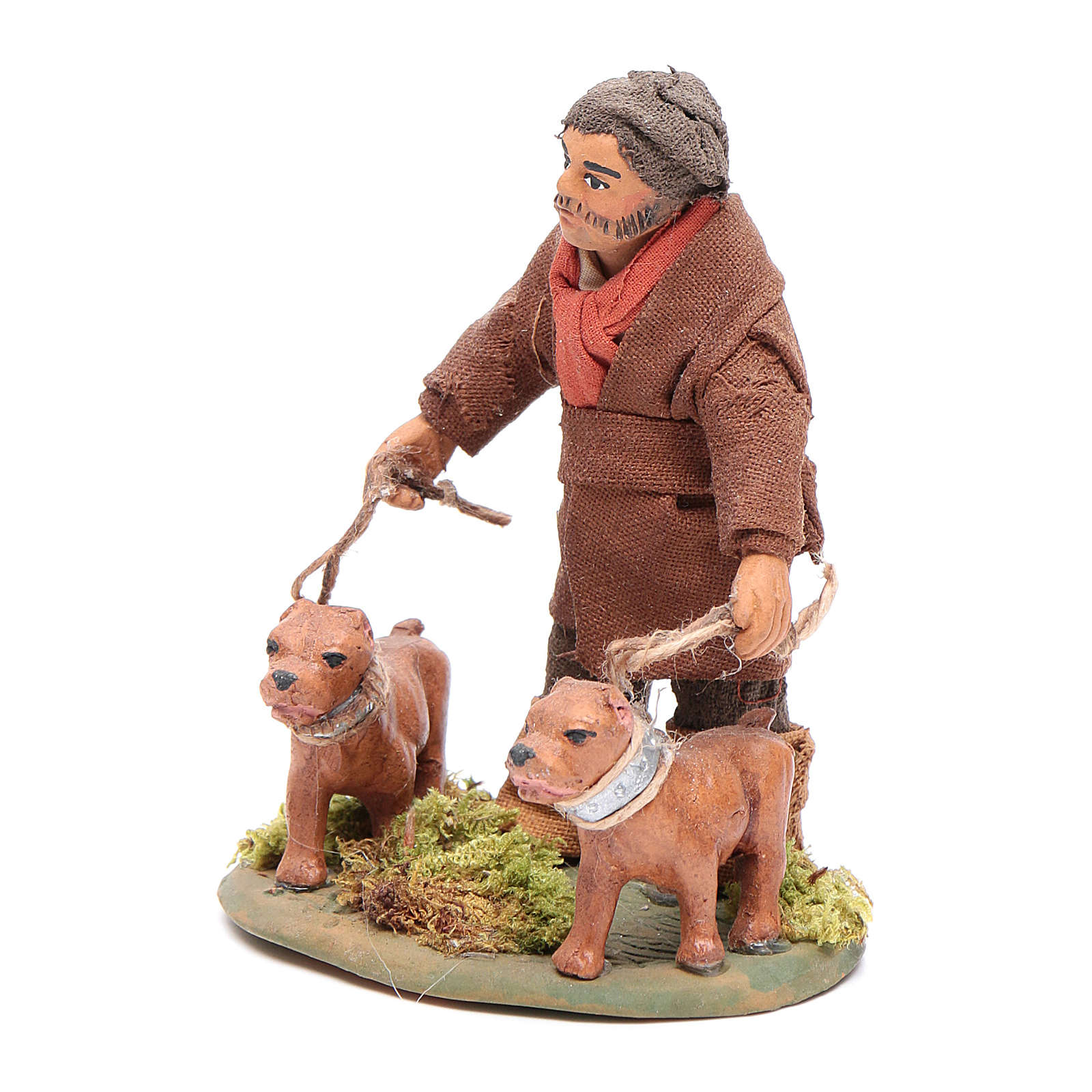Cacciatore con cani 10 cm presepe napoletano 4