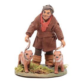 Cacciatore con cani 10 cm presepe napoletano s1