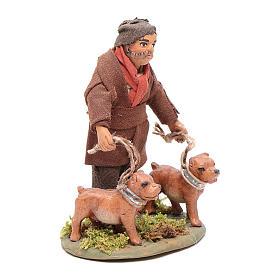 Cacciatore con cani 10 cm presepe napoletano s4