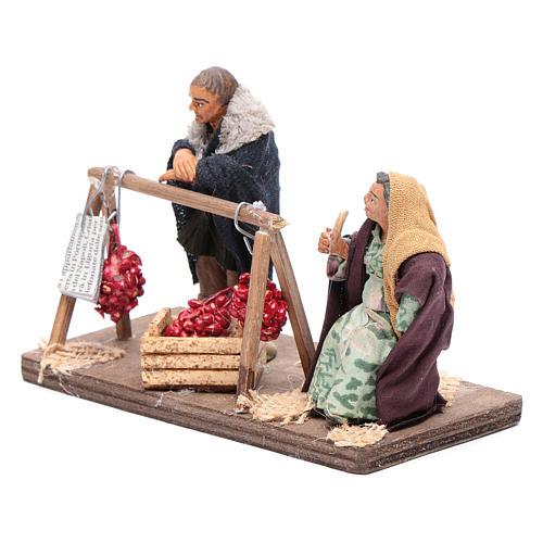 Venditori di pomodori con 2 personaggi 10 cm presepe Napoli 2
