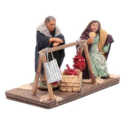 Venditori di pomodori con 2 personaggi 10 cm presepe Napoli 4