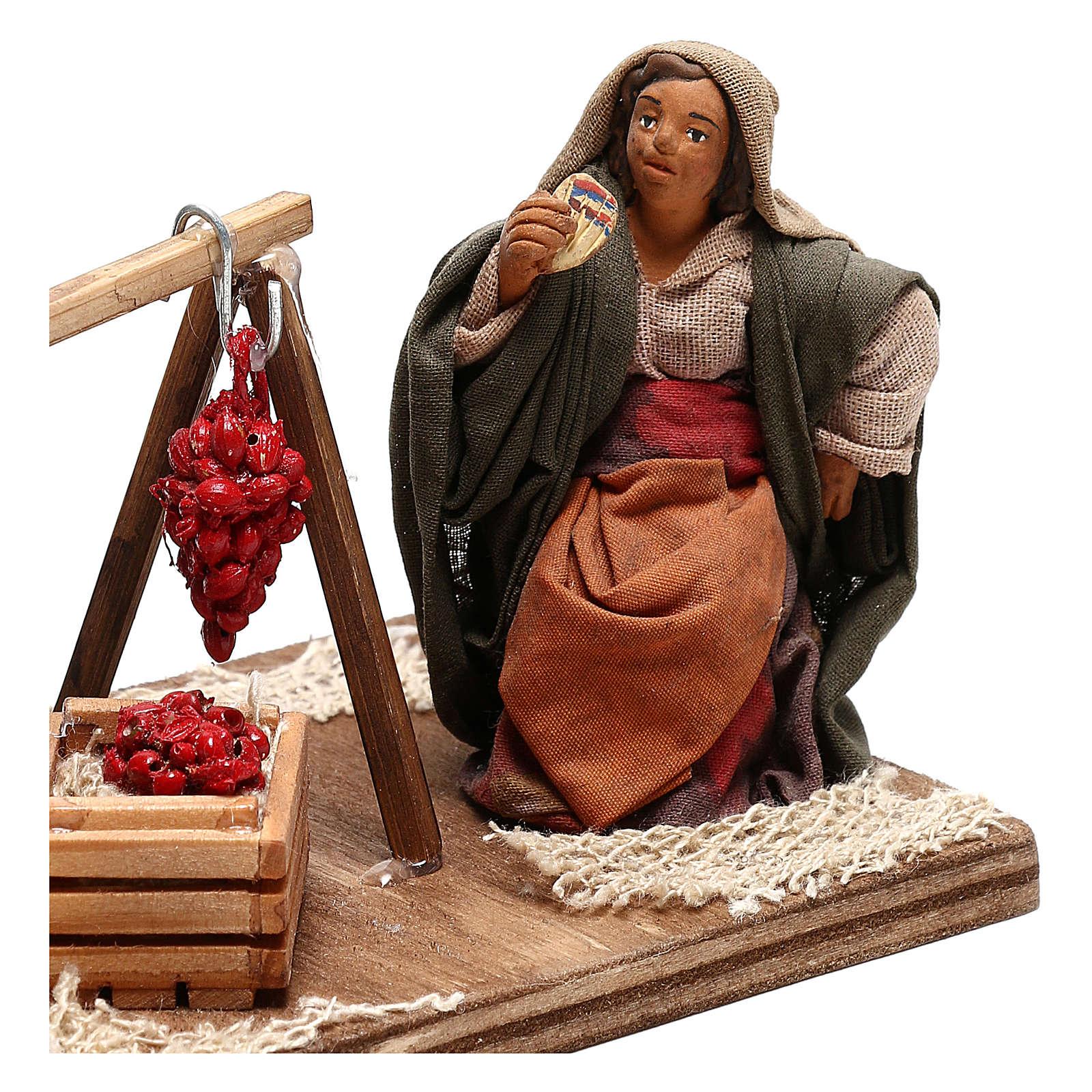 Tomato sellers 10cm, Neapolitan Nativity figurines 4