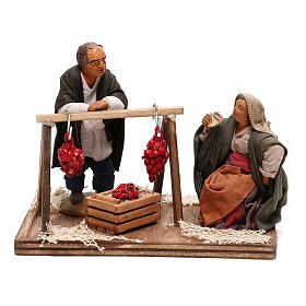 Tomato sellers 10cm, Neapolitan Nativity figurines s1