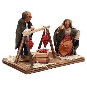 Tomato sellers 10cm, Neapolitan Nativity figurines s4