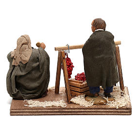Tomato sellers 10cm, Neapolitan Nativity figurines s5