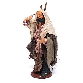 Man with brooms 13cm Neapolitan Nativity figurine s2