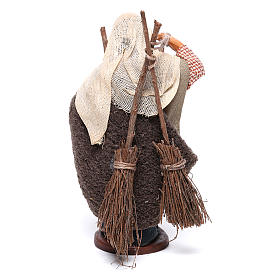 Man with brooms 13cm Neapolitan Nativity figurine s4