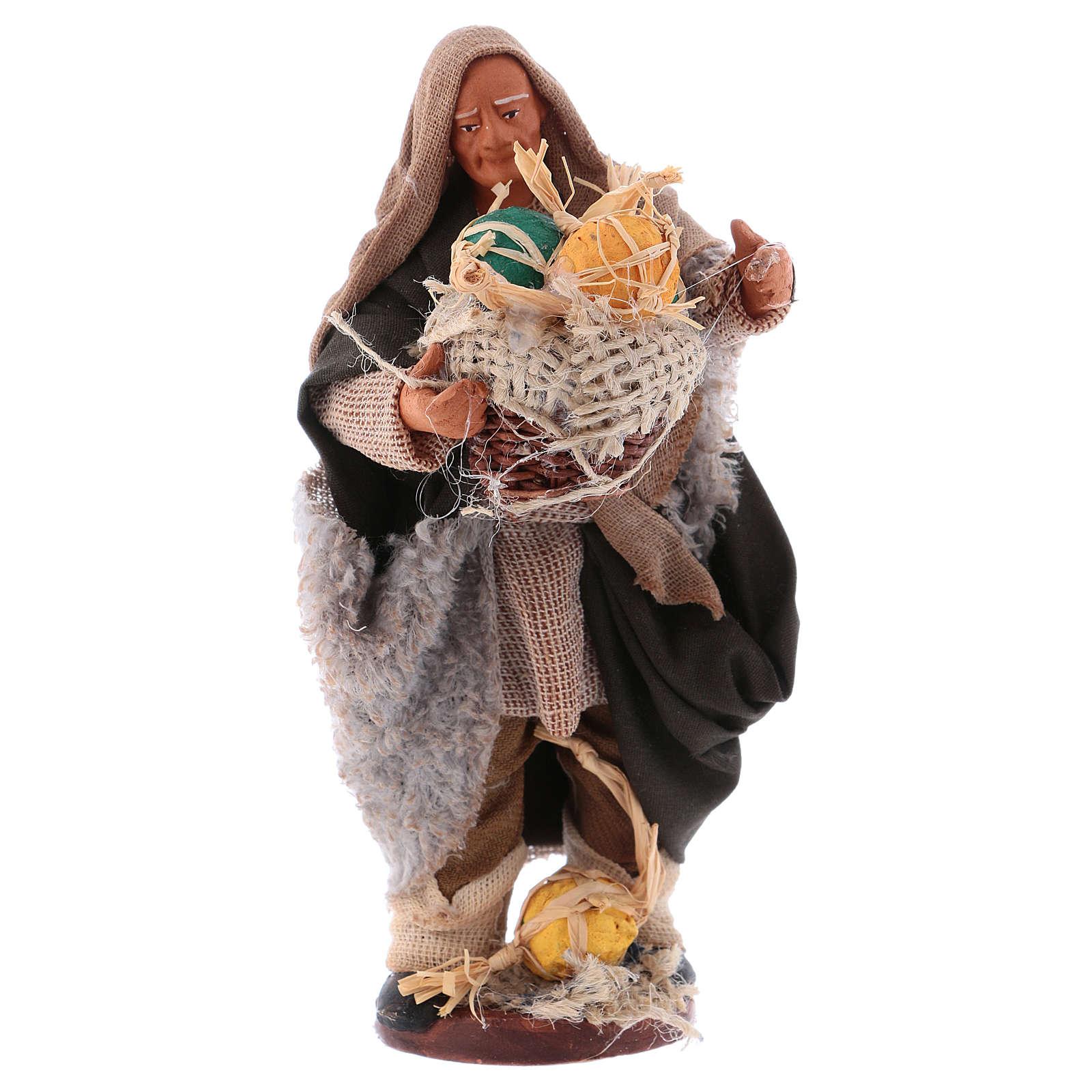 Man with melons basket 13cm Neapolitan Nativity figurine 4