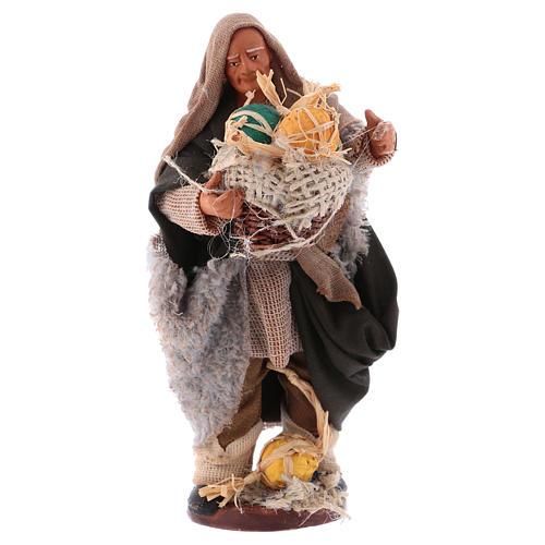 Man with melons basket 13cm Neapolitan Nativity figurine 1