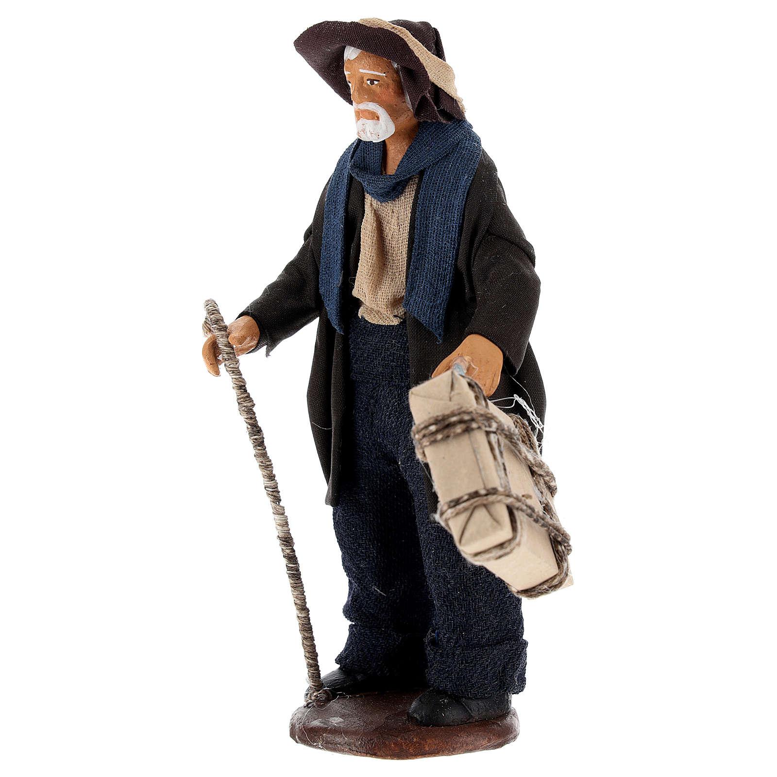 Uomo con valigia di 12 cm presepe napoletano 4