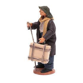 Uomo con valigia di 12 cm presepe napoletano s2