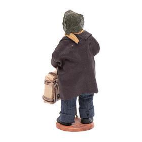 Uomo con valigia di 12 cm presepe napoletano s3