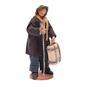 Uomo con valigia di 12 cm presepe napoletano s4