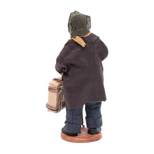 Uomo con valigia di 12 cm presepe napoletano 3