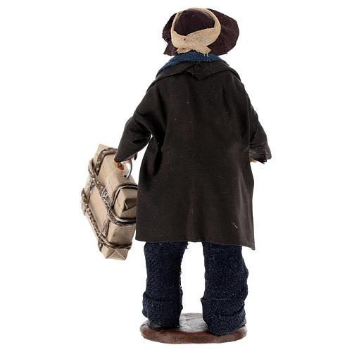 Uomo con valigia di 12 cm presepe napoletano 5