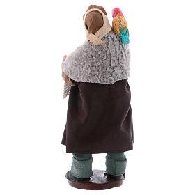 Uomo con pappagallo su spalla 12 cm presepe napoletano s2