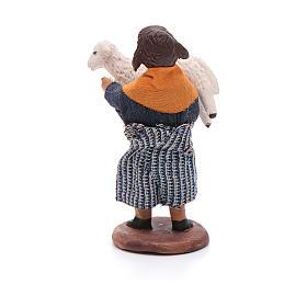 Fanciulla con pecora in braccio 12 cm presepe napoletano s3