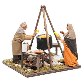Women boiling corns 12 cm Neapolitan Nativity s3