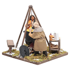 Women boiling corns 12 cm Neapolitan Nativity s2