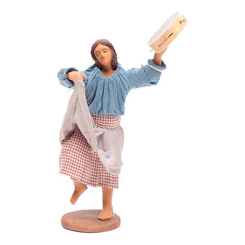 Peasant with tambourine 12 cm Neapolitan Nativity 1