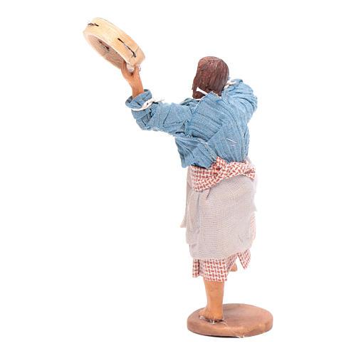 Peasant with tambourine 12 cm Neapolitan Nativity 3