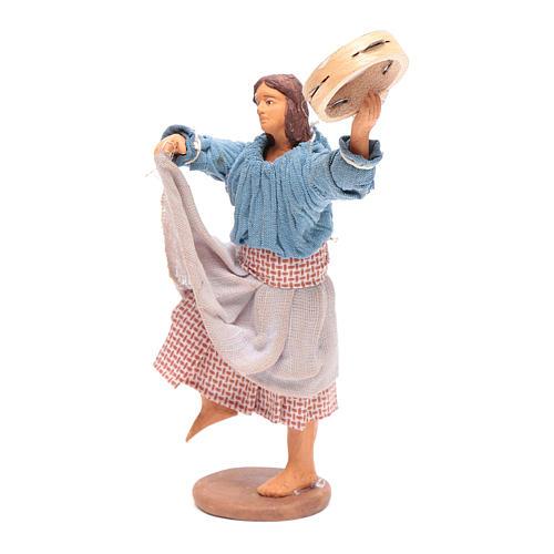 Peasant with tambourine 12 cm Neapolitan Nativity 2