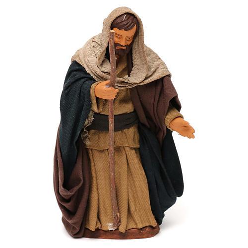 Saint Joseph en terre cuite 12 cm crèche napolitaine 1