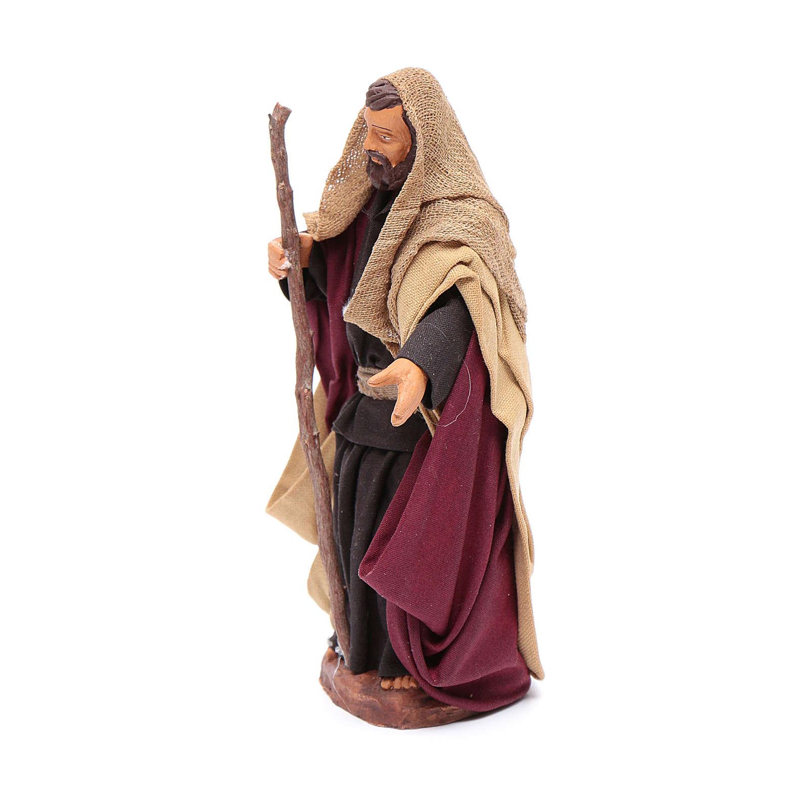 San Giuseppe in terracotta 12 cm presepe napoletano 4