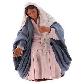 Virgin Mary 12 cm Neapolitan Nativity, terracotta s1