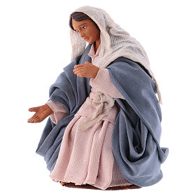 Virgin Mary 12 cm Neapolitan Nativity, terracotta s2