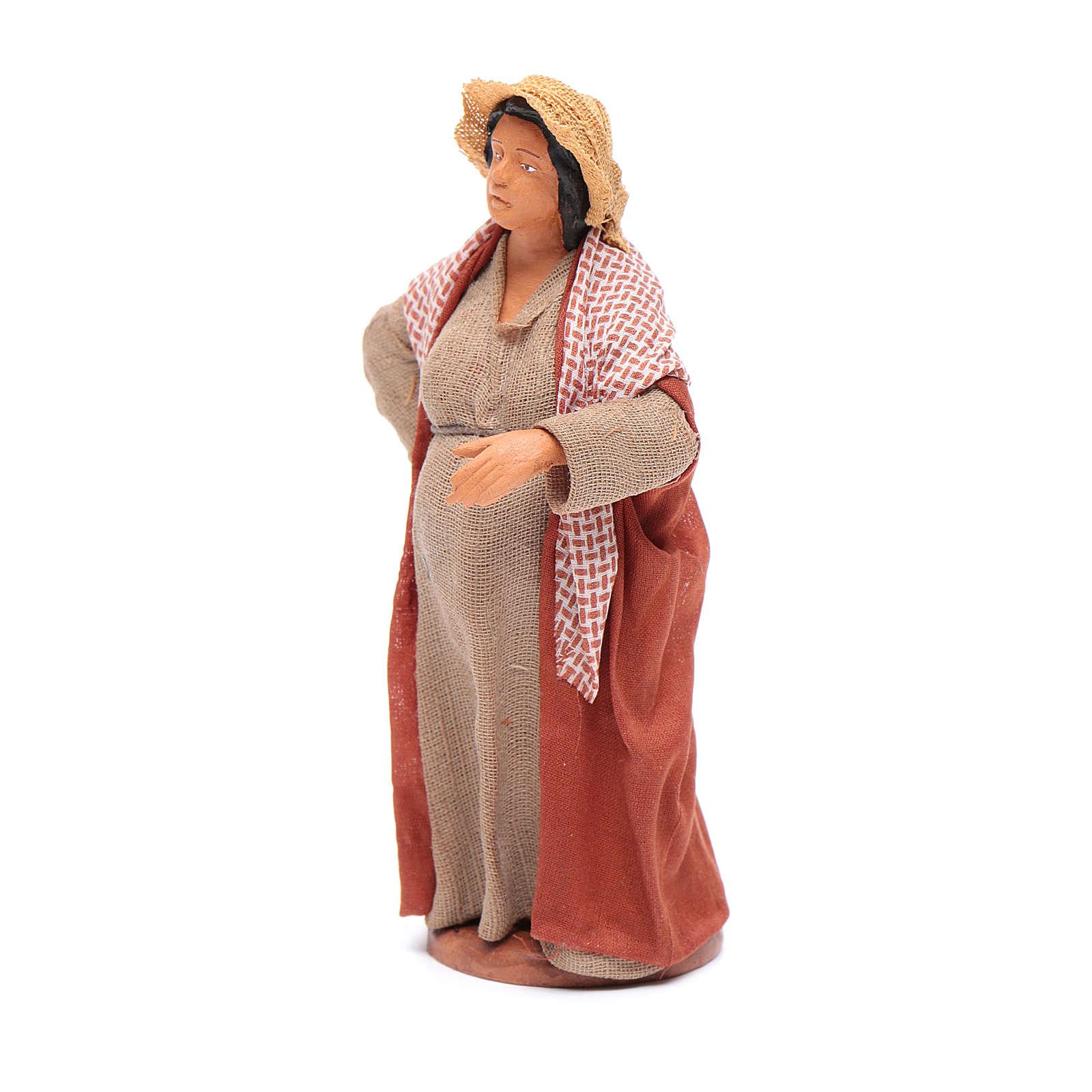 Donna incinta 12 cm presepe napoletano 4