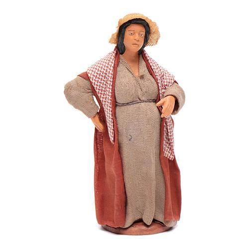 Donna incinta 12 cm presepe napoletano 1
