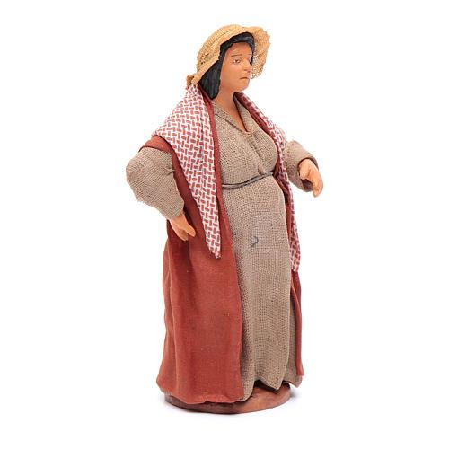 Donna incinta 12 cm presepe napoletano 3