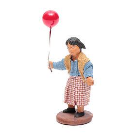 Fanciulla con palloncino 12 cm presepe napoletano s2