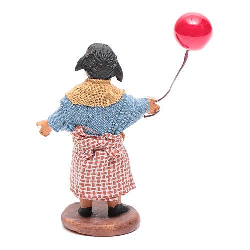 Fanciulla con palloncino 12 cm presepe napoletano 3