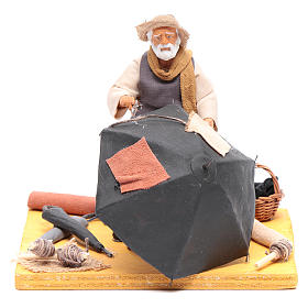 Neapolitan Nativity Scene: Ombrella-maker 12 cm Neapolitan Nativity figurine