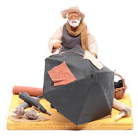 Belén napolitano: Hombre con paraguas 12 cm belén napolitano