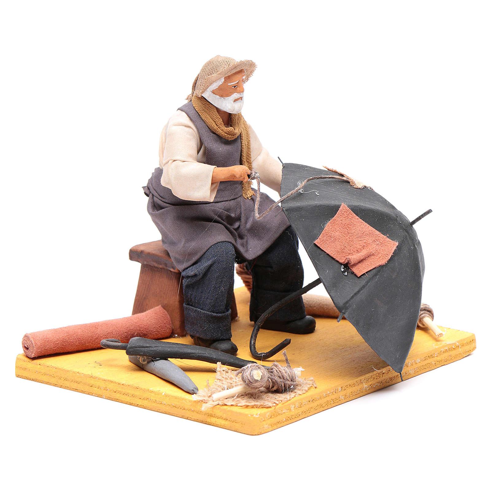 L'ombrellaio 12 cm presepe napoletano 4