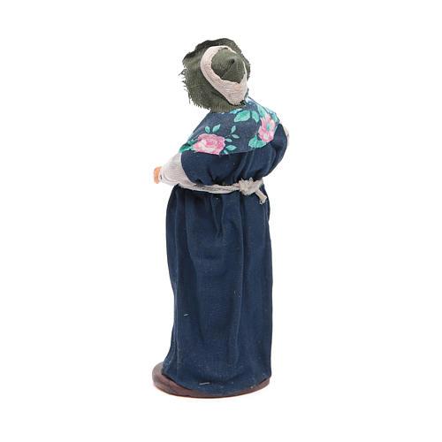 Donna incinta 14 cm presepe napoletano 3